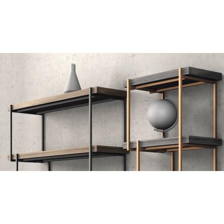 Originální designová knihovna, italský nábytek, moderní interiér
