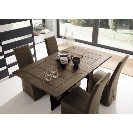 jídelní stůl, rozkládací jídelní stůl, dřevěný stůl, deska z masivního dřeva, designový stůl do jídelny, masivní stůl